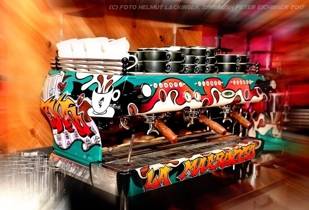 Airbrush Kaffeemaschine