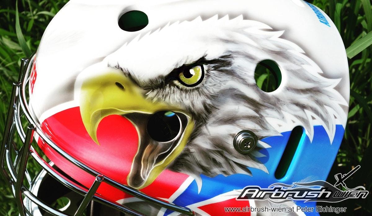 Airbrush Goaliemask Eagle