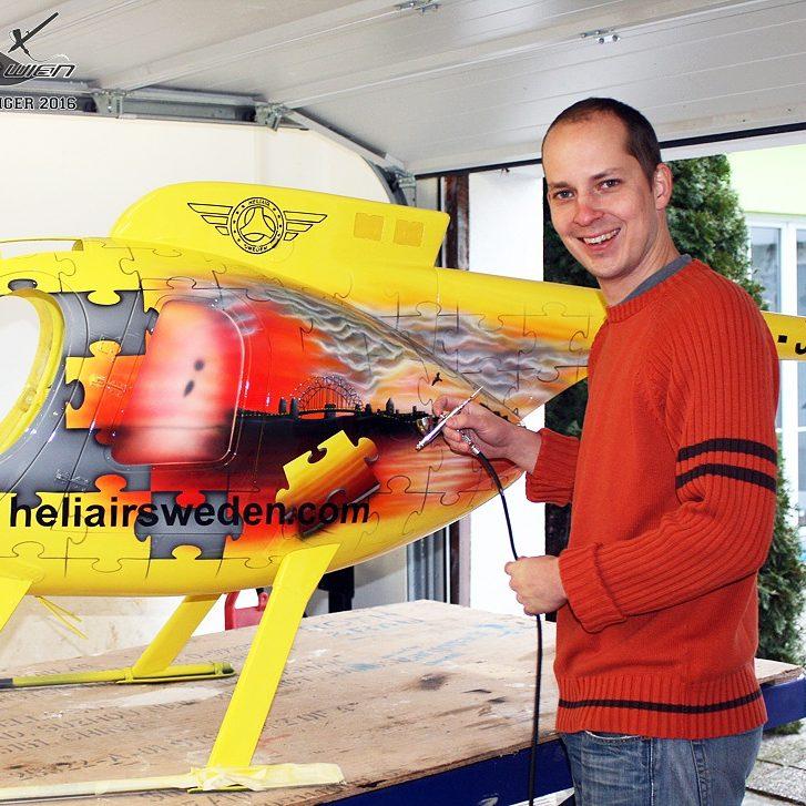Airbrush Heli und Peter Eichinger