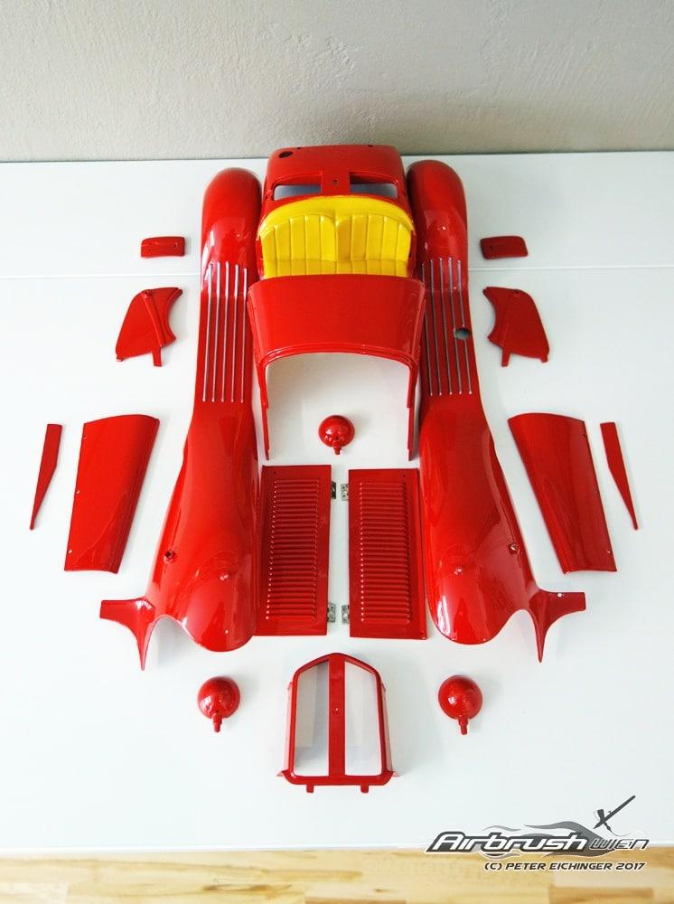 Ferrari Modell Airbrush