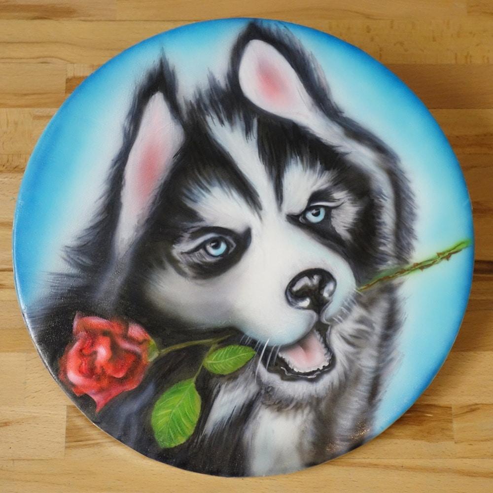 Torten Airbrush Husky