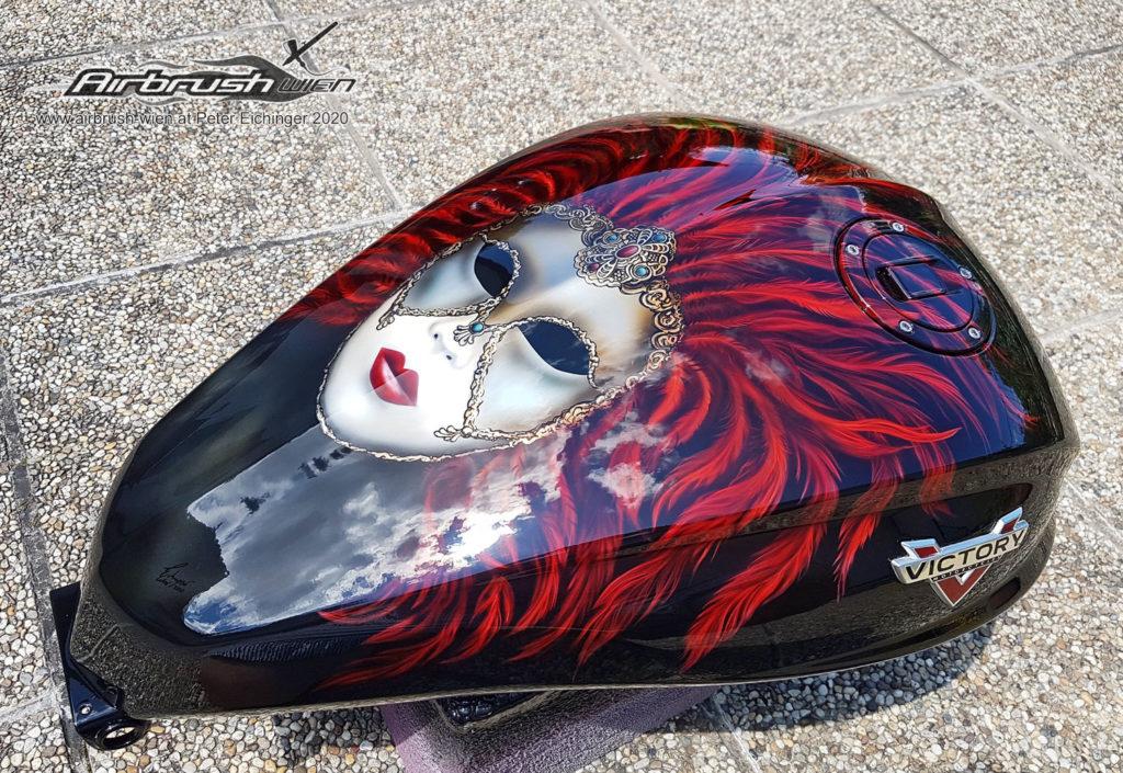 Motorradtank Airbrush