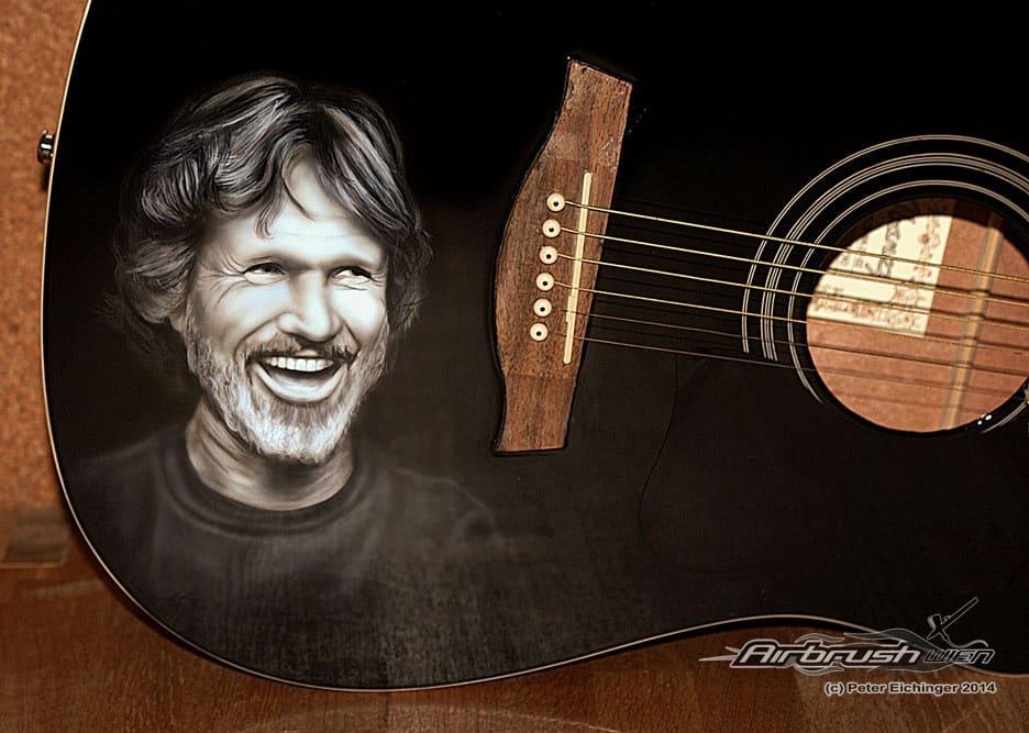 Kris Kristofferson Guitar Portrait