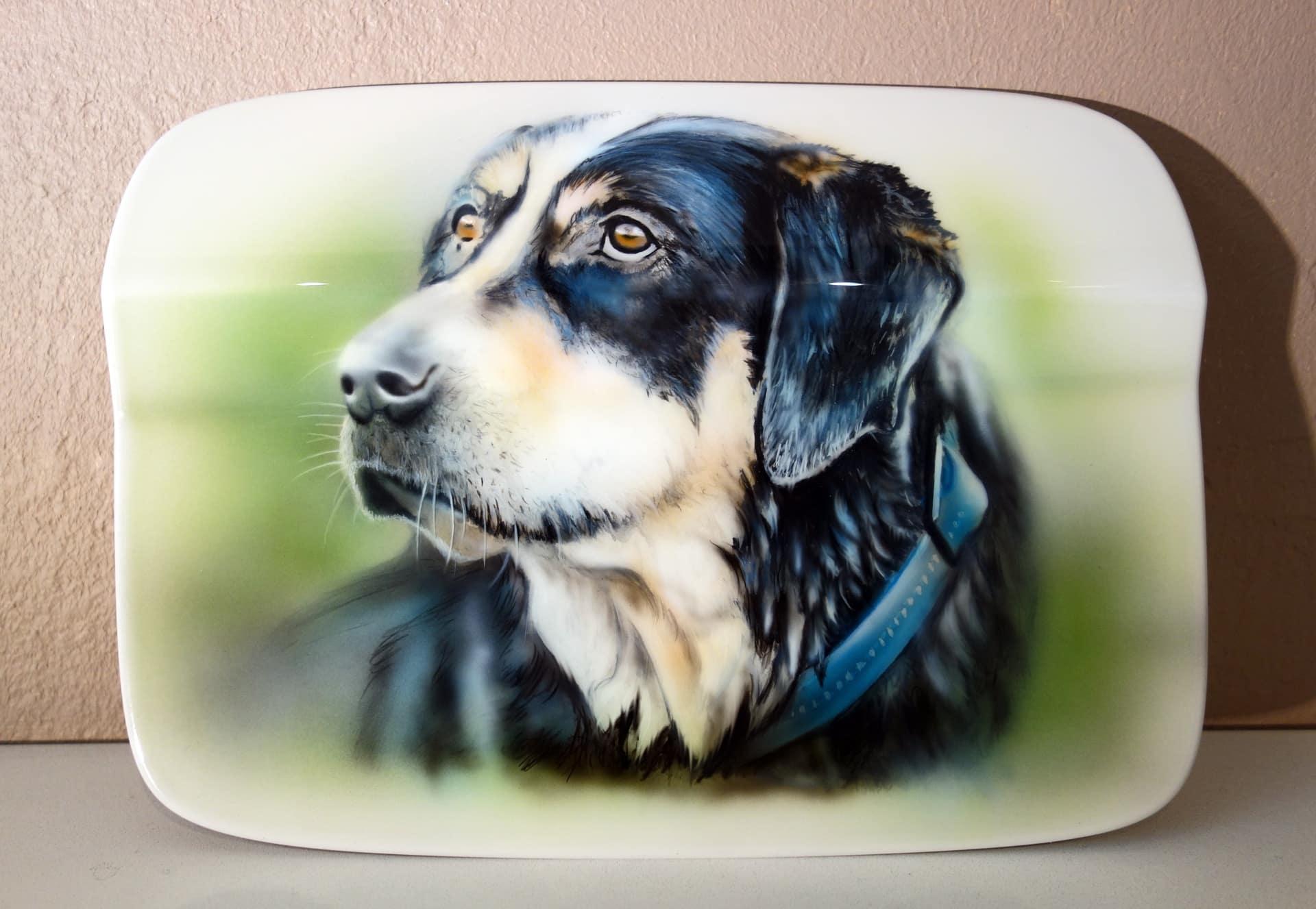 Hundeporträt Airbrush Portrait