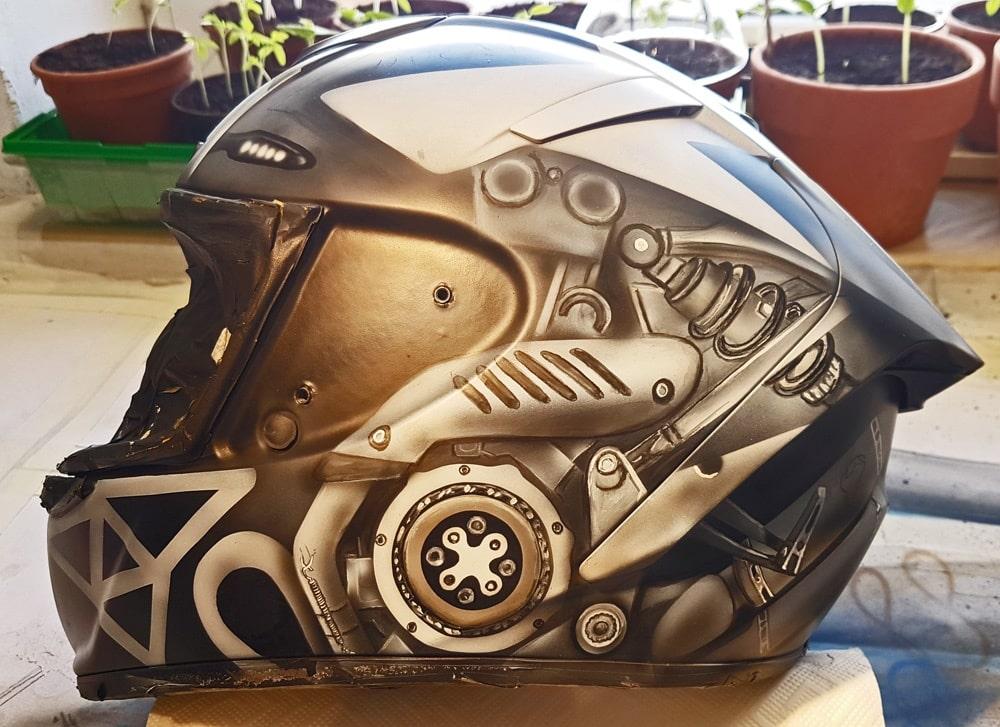 Helm Bemalung Making