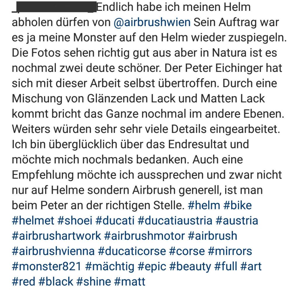 Kundenfeedback Airbrush Wien